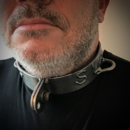 Steel neck Collar - With the option to have a text of your choice welded.