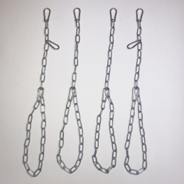 Chain SET for 4 point-sling or slingboard with 10 carabien